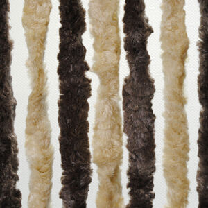Brunner Dekorativní závěs proti hmyzu do dveří karavanu, 100x205 cm tmavě hnědá/béžová