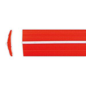Gumové výplně lišty Uni, různé druhy červená s bílým pruhem