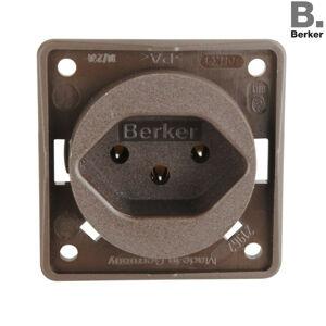 Berker Integro vnitřek zásuvky CH Typ 13 hnědá