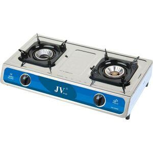Nerezový vařič JV Turbo s 1/2/3 hořáky se dvěma hořáky