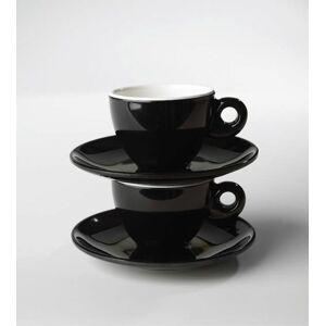 Gimex Melaminový espresso set Quadrato Black and White 2 díly