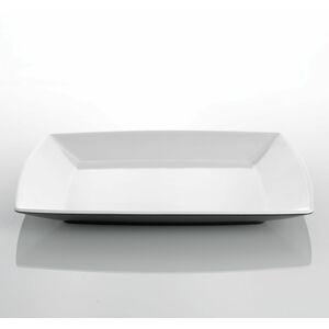 Gimex Melaminový talíř mělký Quadrato Black and White 25x25cm